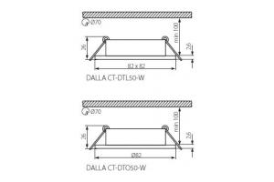 Светильник точечный галогенный DALLA CT-DTL50-W