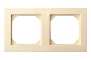 K14-245-02 E/S рамка 2-местная скрытого монтажа, песочный