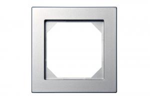 K14-245-01 E/Mt рамка 1-местная скрытого монтажа, металлик