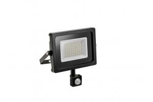 Светодиодный прожектор iNEXT с датчиком движения, 20W, черный