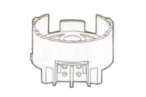 Патрон для люминесцентных ламп 142 G13 накидной