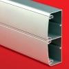 Алюминиевый кабель-канал 140х50 (с 2 крышками), цвет серебристый металлик