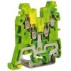 CBE.2, зажим для заземления желт.зелен 2,5 кв.мм 2 ввод/2вывода